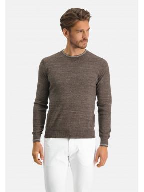 Modern-Classics-Pullover,-Feinstrick---dunkelbraun-uni