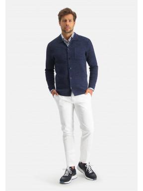 Modern-Classics-vest-met-borstzak---donkerblauw-uni