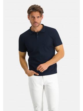 Modern-Classics-Poloshirt,-modern-fit---dunkelblau-uni