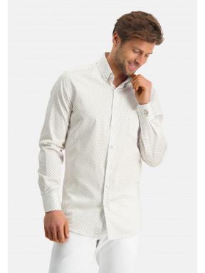 Modern-Classics-chemise-en-coton-stretch---sablé/blanc