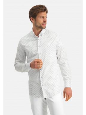 Modern-Classics-chemise-à-imprimé---cobalt/blanc