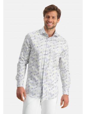 Modern-Classics-chemise-à-imprimé---cobalt/sablé