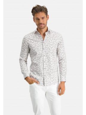 Modern-Classics-chemise-à-look-satin---sablé/brun-foncé