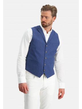 Gilet-with-a-lapel-collar---cobalt-plain