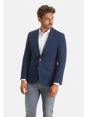 Blazer,-Streifen,-modern-fit---dunkelblau/weiß