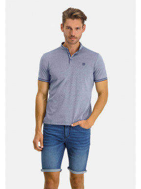 Polo-with-stand-up-collar