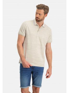 Poloshirt,-Jersey,-kurzarm,-uni---weiß/hellbeige