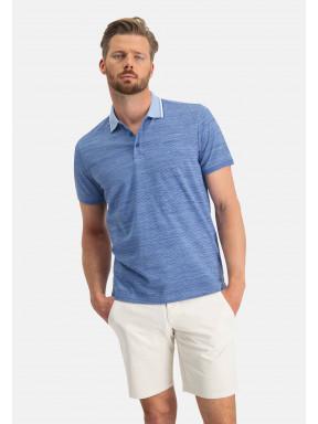 Poloshirt,-Jersey,-kurzarm,-uni---mittelblau/kobalt