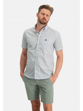 Shirt-Print---white/moss-green