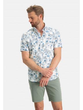 Shirt-Print---white/cobalt