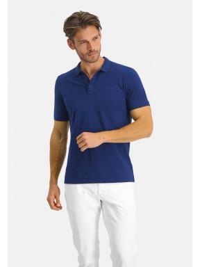 Poloshirt-Pique-Short-Sleeve-Plain---cobalt-plain