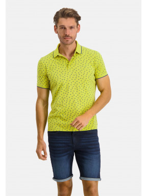 Poloshirt-Piqué-SS-Printed---lime/cobalt