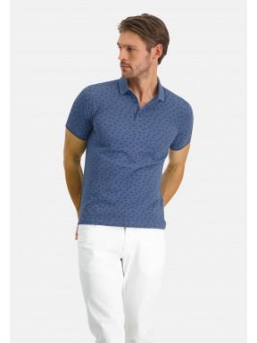 Poloshirt-Piqué-SS-Printed---grey-blue/cobalt