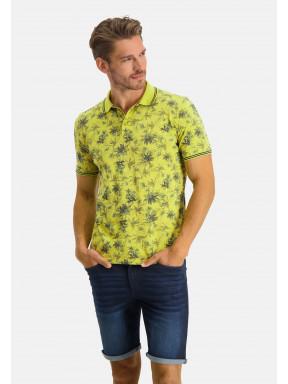 Poloshirt-Pique-Short-Sleeve-Print---lime/midnight