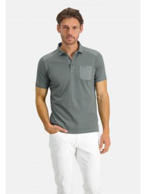Poloshirt-Pique-Short-Sleeve-Plain---moss-green-plain