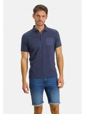 Poloshirt-Pique-Short-Sleeve-Plain---dark-blue-plain