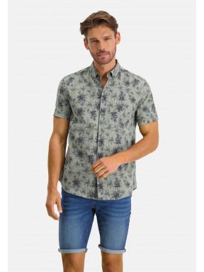 Shirt-Print---moss-green/midnight