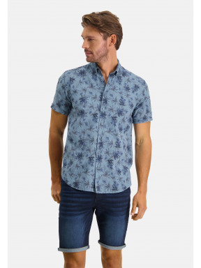 Shirt-Print---grey-blue/midnight