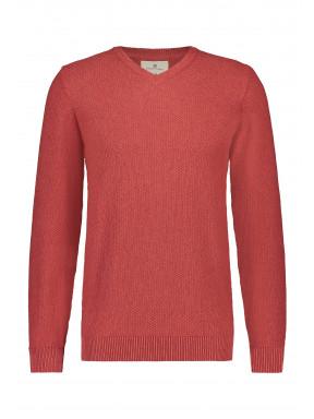 V-neck-jumper-of-blended-recycled-cotton