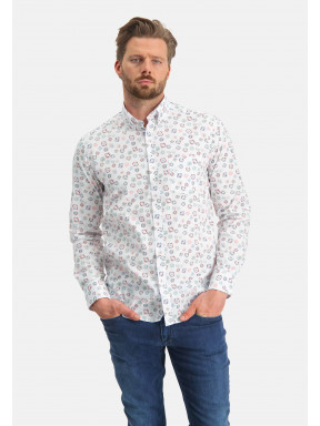 Regular-fit-overhemd-met-all-over-print