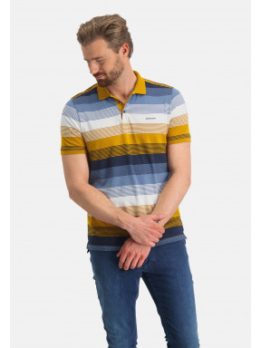 Striped-polo-of-organic-cotton
