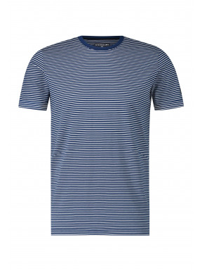 T-shirt-à-encolure-ronde-et-rayures
