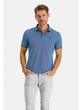 Polo-with-a-woven-collar