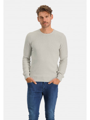 Jumper-plain-of-blended-recycled-cotton