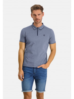 Polo-with-zip-closure-and-short-sleeves