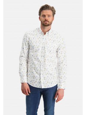 Chemise-à-imprimé-en-coton