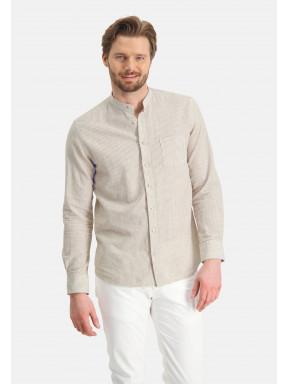 Overhemd-met-mao-kraag