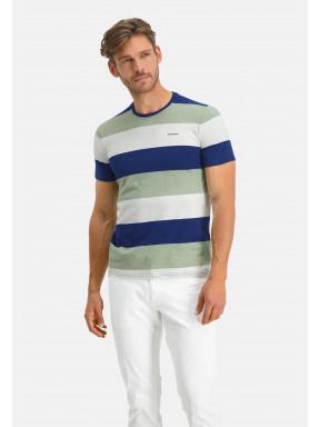 T-shirt-en-coton-bio-à-rayures