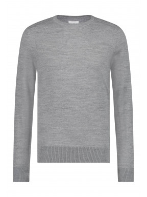 Fijngebreide-trui-van-een-wol-mix---zilvergrijs-uni