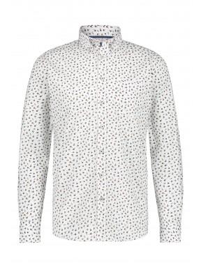 Overhemd-met-een-all-over-print---brique/donkerblauw