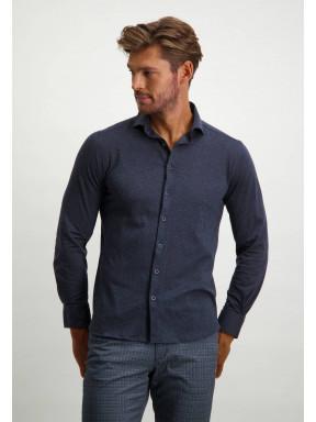 Shirt-in-100%-cotton---dark-blue-plain