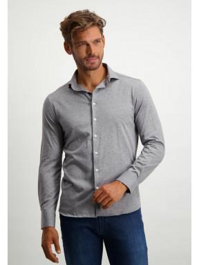 Shirt-in-100%-cotton---medium-grey-plain