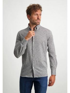 Regular-fit-overhemd-met-een-all-over-print---zilvergrijs/donkerblauw