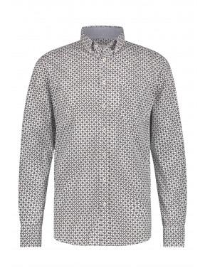 Button-down-overhemd-van-katoen-stretch---donkerblauw/kit