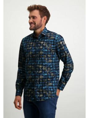 Regular-fit-overhemd-van-biologisch-katoen---donkerblauw/kobalt