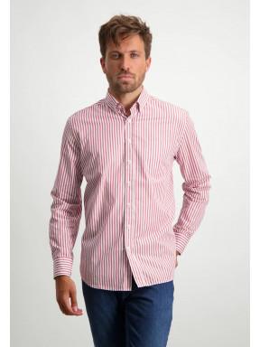 Striped-organic-cotton-shirt---dusty-pink/white