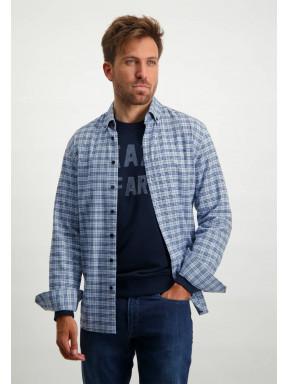Checked-shirt-with-button-down-collar---light-blue/cobalt