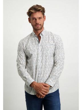 Shirt-Print---dark-blue/silvergrey