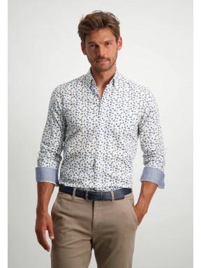 Poplin-organic-cotton-shirt---midnight/cobalt