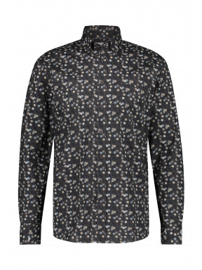 Organic-cotton-shirt-with-chest-pocket---silvergrey/dark-anthracit