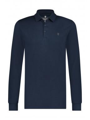 Pima-cotton-polo-shirt---dark-blue-plain