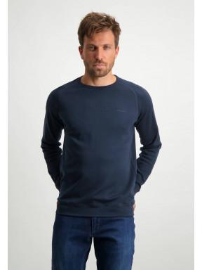 Pima-cotton-sweatshirt---dark-blue-plain