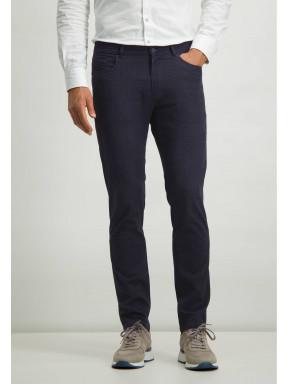 Pantalon-stretch-avec-imprimé-numérique---blue-foncé/cobalt