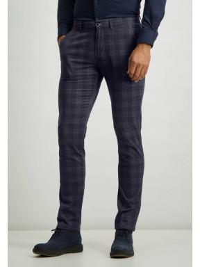 Chino-stretch-avec-poches-fendues---blue-foncé-uni