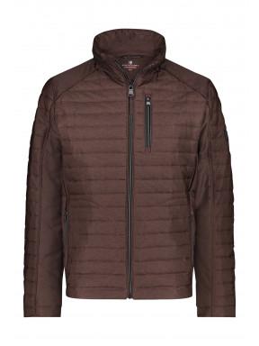 Regular-fit-short-jacket---brick-plain
