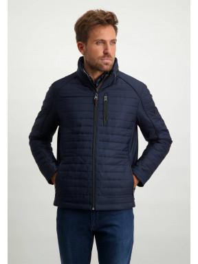 Regular-fit-short-jacket---dark-blue-plain